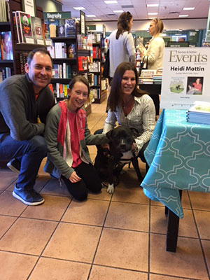 Reed & Heidi at bookstore with fans